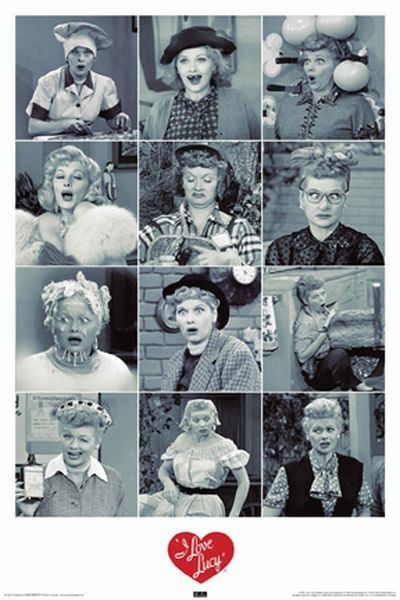 I LOVE LUCY - FUNNY FACES POSTER -