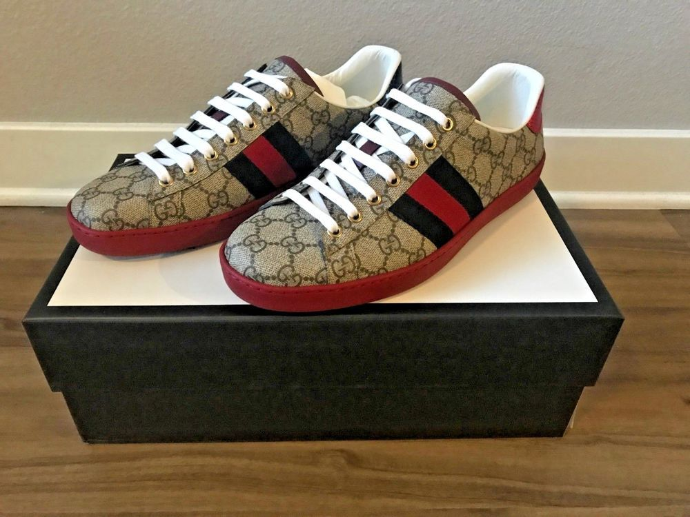 0bfda670807 Gucci Ace GG Supreme Sneaker - Size 8 (9.5 US)  fashion  clothing  shoes   accessories  mensshoes  casualshoes (ebay link)