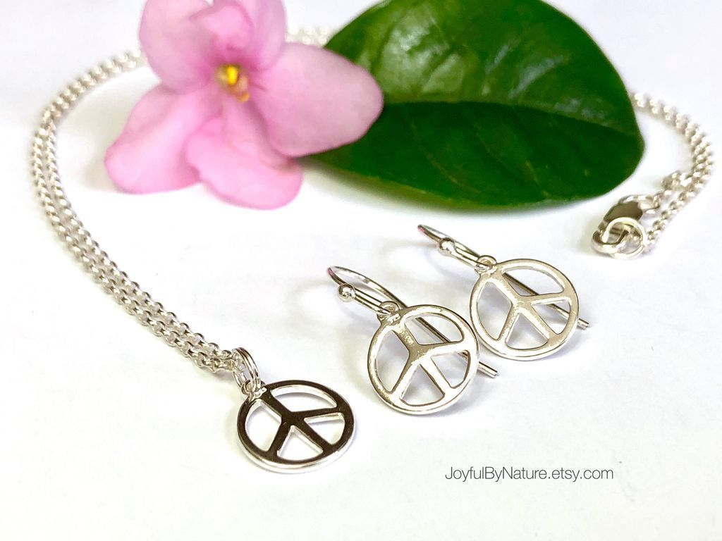 Peace sign jewelrysterling silver handmade perfect for jewelry bookmarks cards handhug tablet grip by joyfulbynature peace sign voltagebd Gallery
