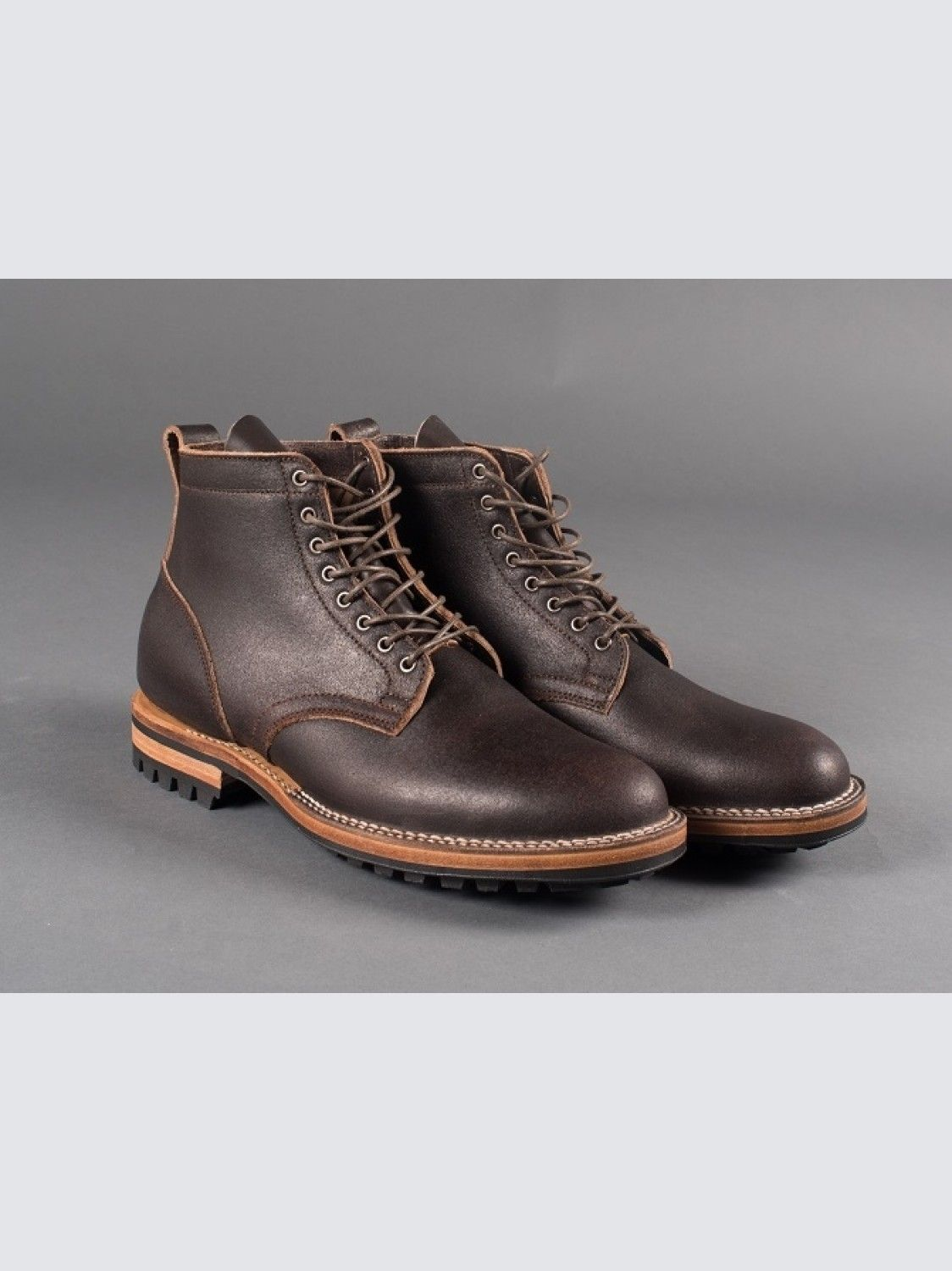 Viberg Service Boot Brown Waxed Flesh - Commando  8fe454c4729