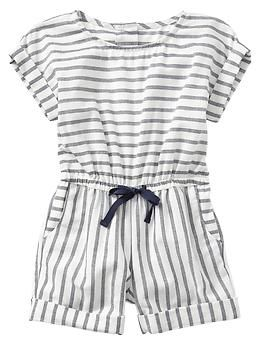 4929914eb1a5 Stripe cuffed romper for baby   toddler