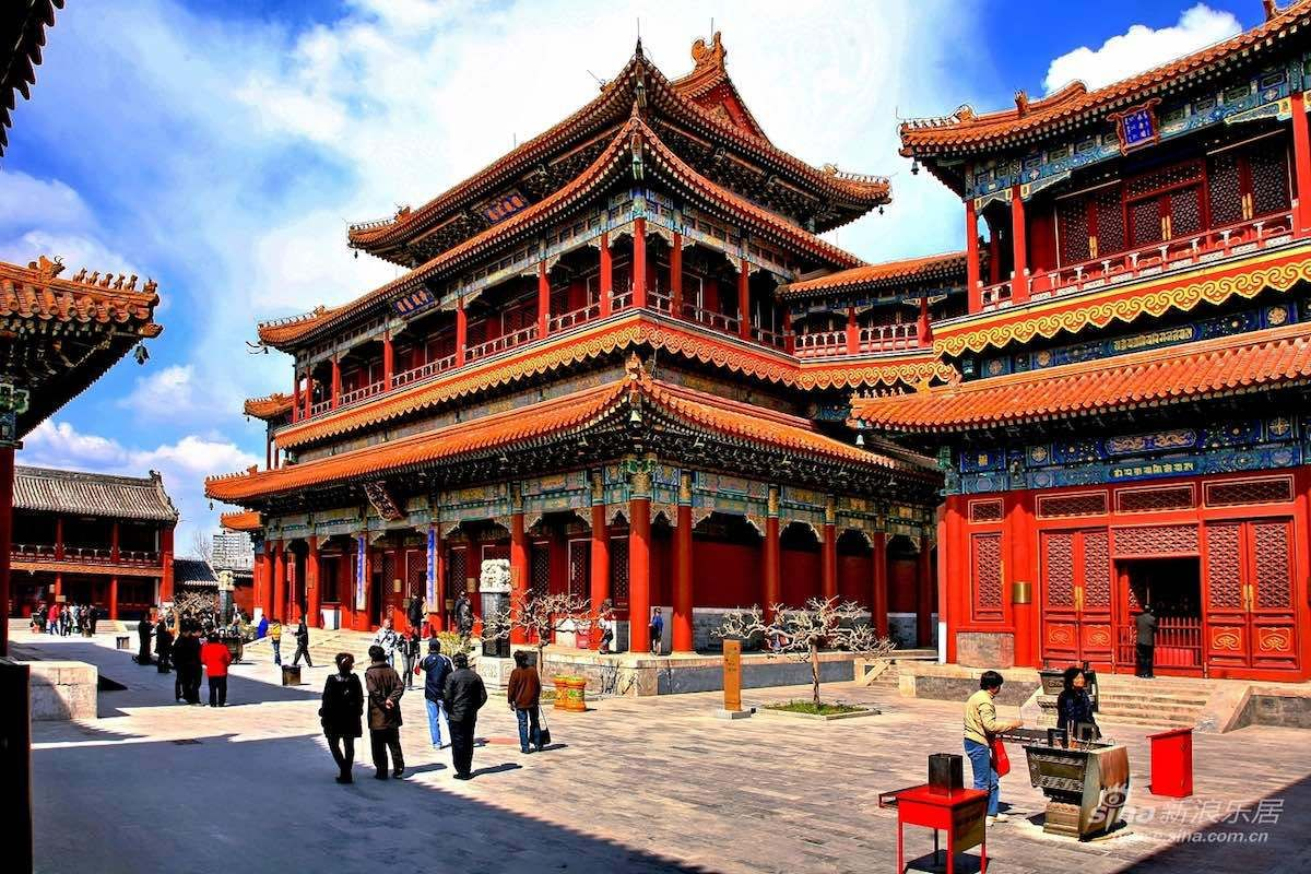 Chinese Lama Temple In 360 Degrees Summer Palace Beijing Beijing Buddhist Architecture