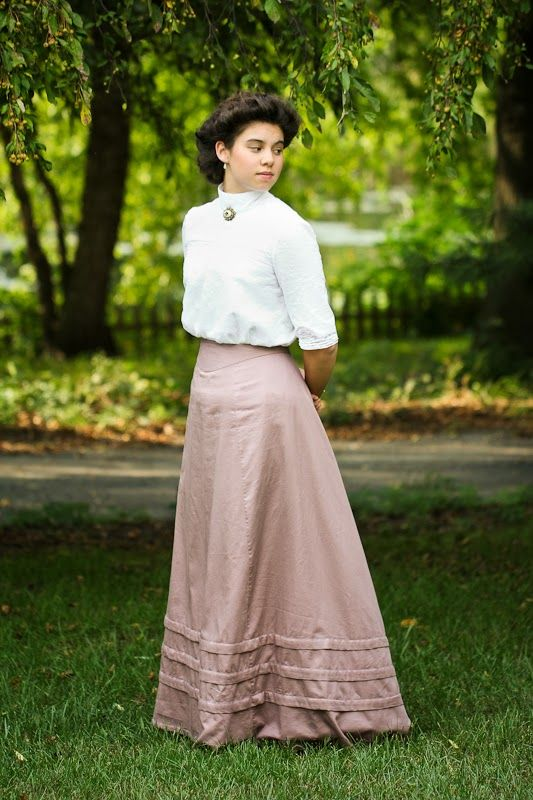 Edwardian Reproduction Blouse And Skirt Inspired By