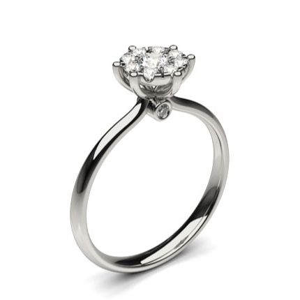 Buy Pressure Setting Round Diamond Cluster Ring Online UK Diamonds