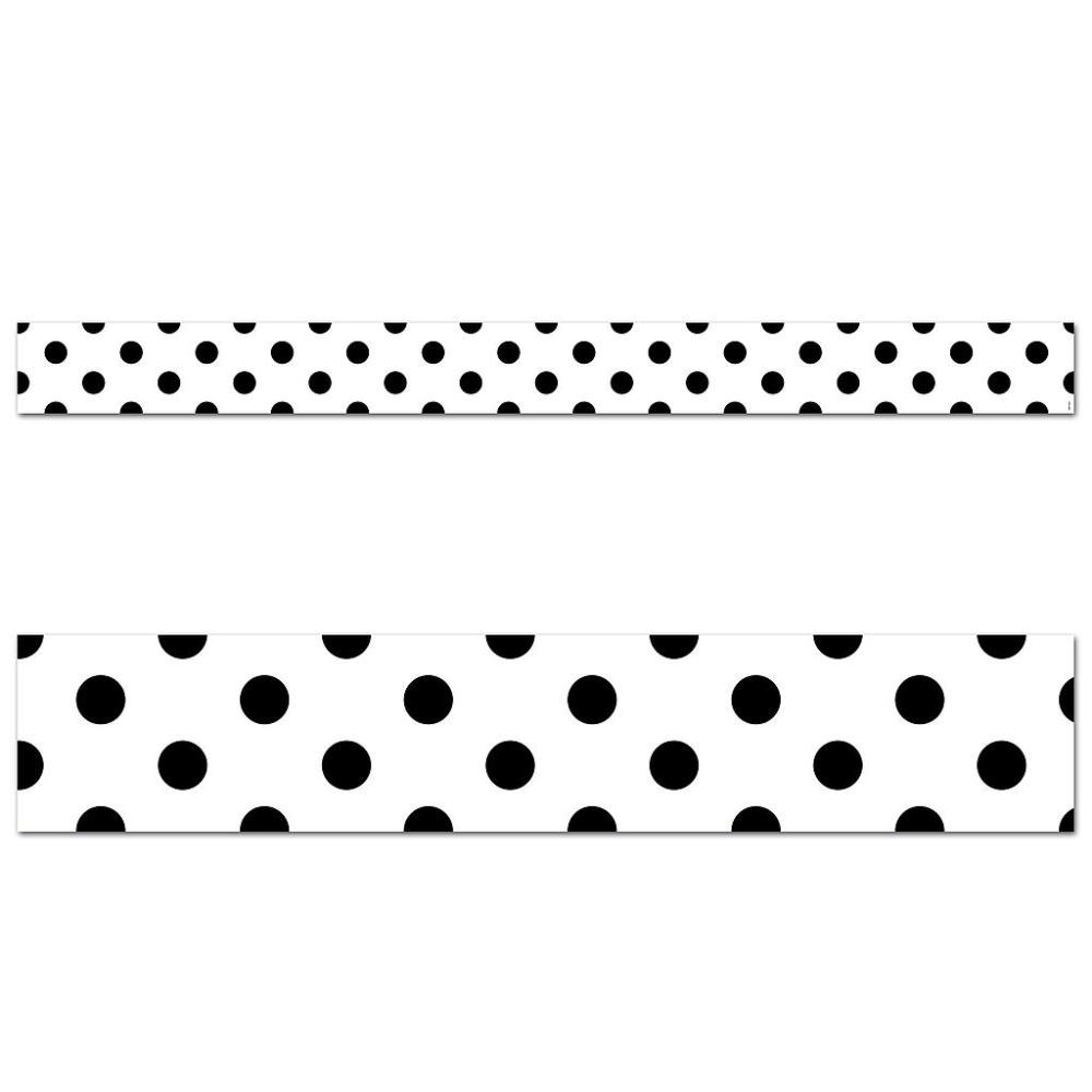 Core Decor Black Polka Dots Border In 2020 Black Decor Black Polka Dot Simple Patterns