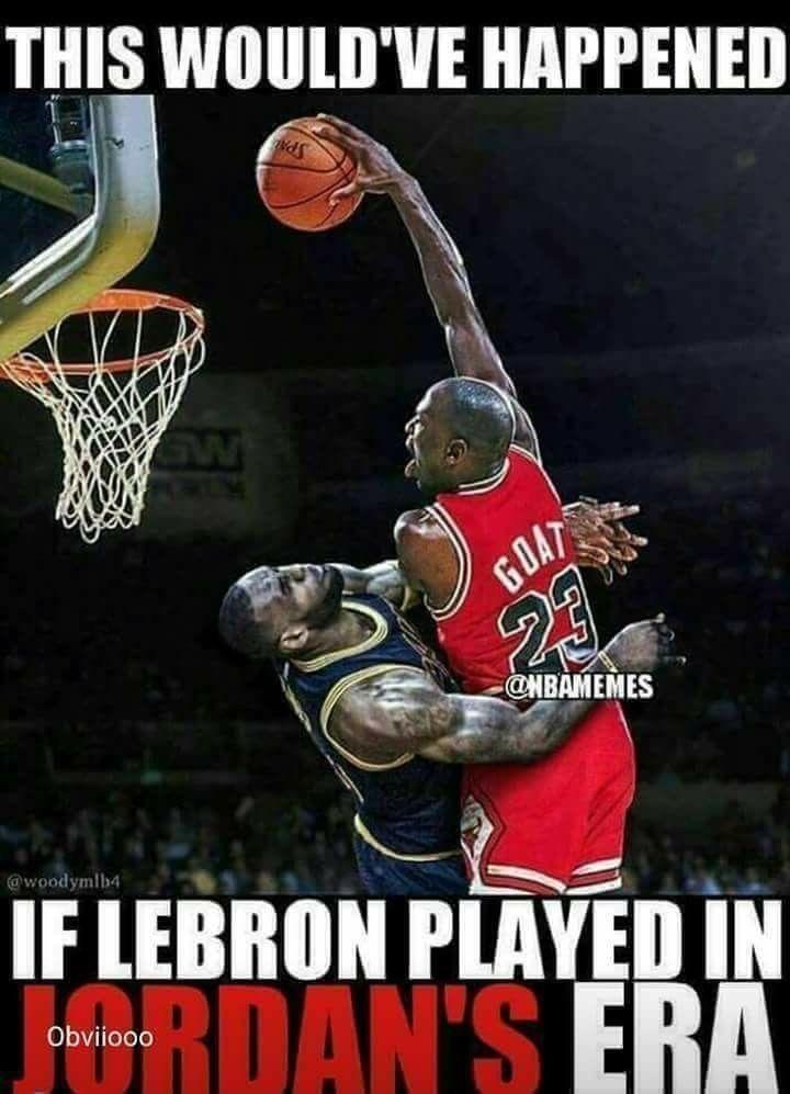 jordan dunking on lebron   Jugadores de baloncesto, Humor