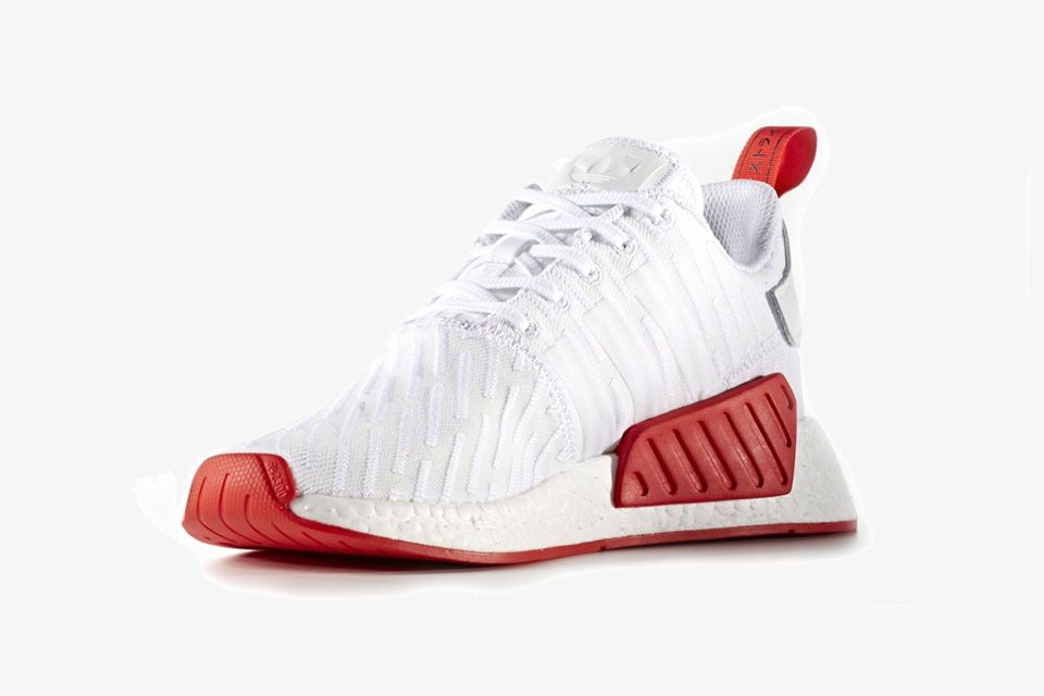 adidas NMD_R2 PK white / red Boys Running shoes Low