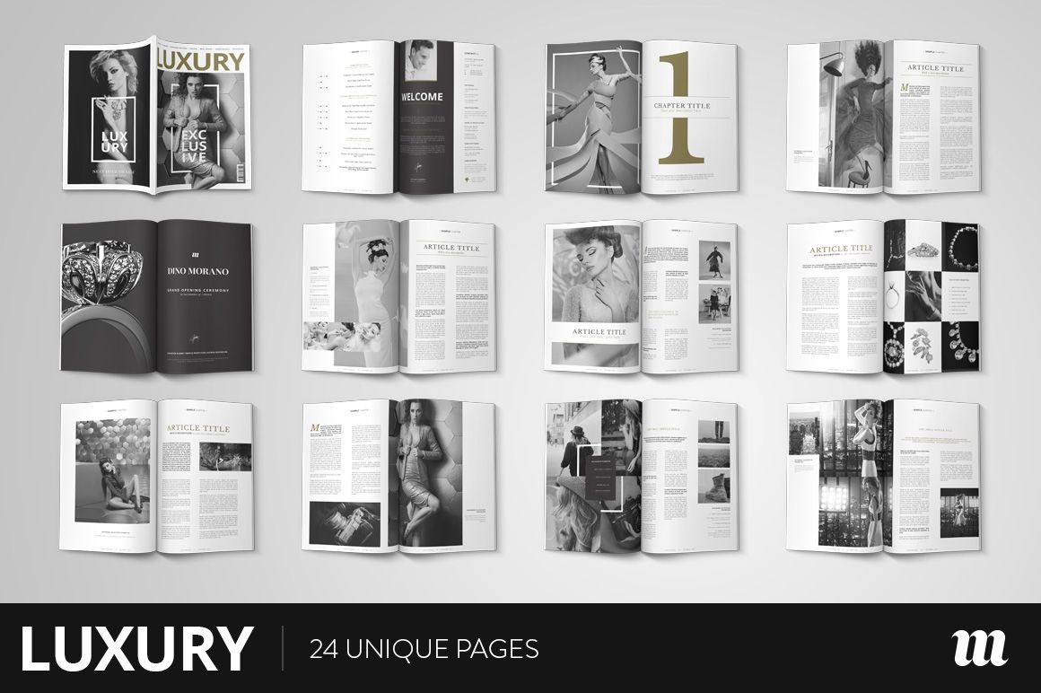 Luxury Magazine InDesign Template   Indesign templates, Template and ...