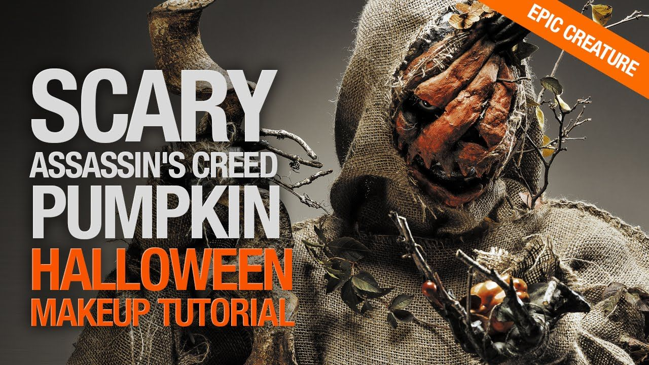 Scary assassins creed pumpkin halloween makeup tutorial ...