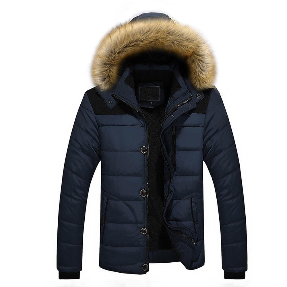 Men Outdoor Warm Winter Thick Jacket Plus Fur Hooded Coat Jacket Winter Jacket Men Warm Winter Jackets Mens Jackets [ 1000 x 1000 Pixel ]