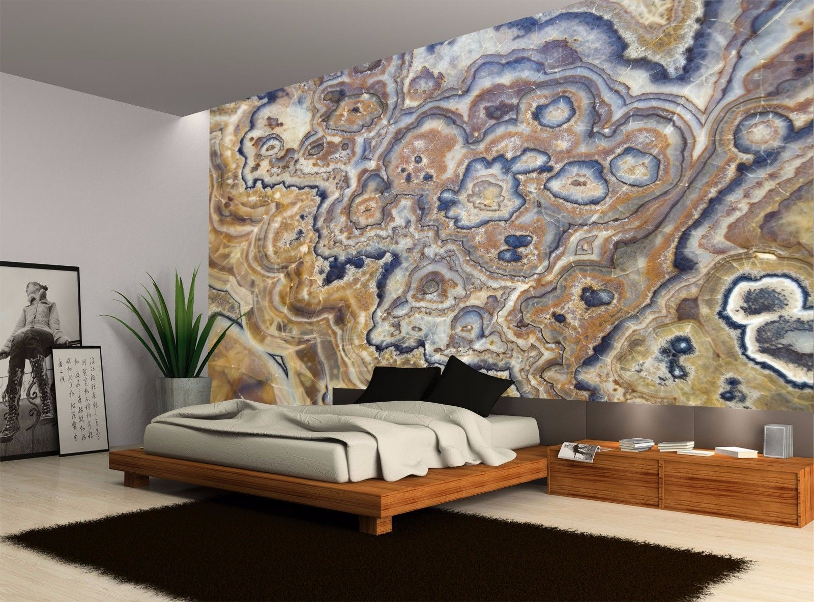 Details about Onyx Texture Stone Amazing Wall Mural Photo