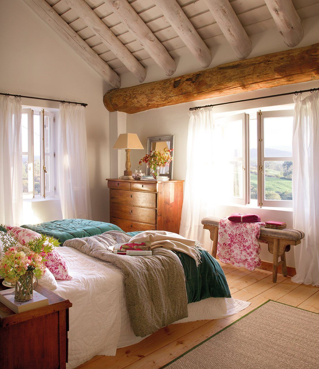 Principal bedroom in an historic home with an interior inspired by - Cozy