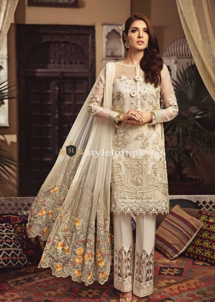 5bf34e2c31 Serene Premium Chiffon Collection 2018 Glam-Ivory | New Arrivals in ...
