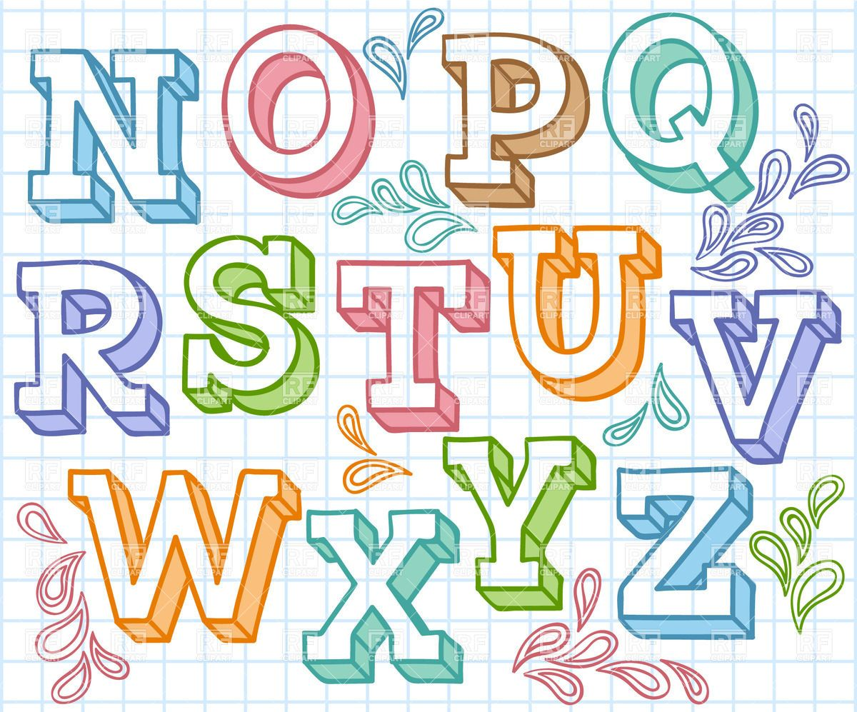 Free Colorful Fonts Colorful sketchy font shaded