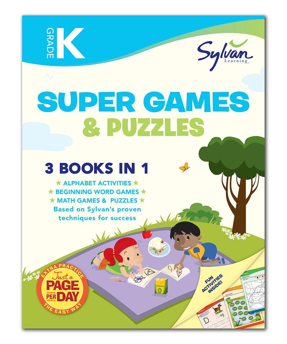 Kindergarten Super Games & Puzzles Workbook