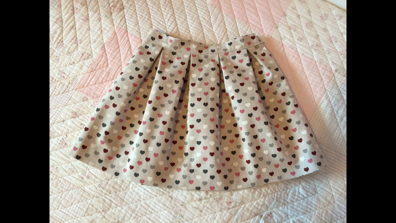 69889c1ed Falda de tablas. Pleated skirt - YouTube | Couture pour bébé | Falda ...