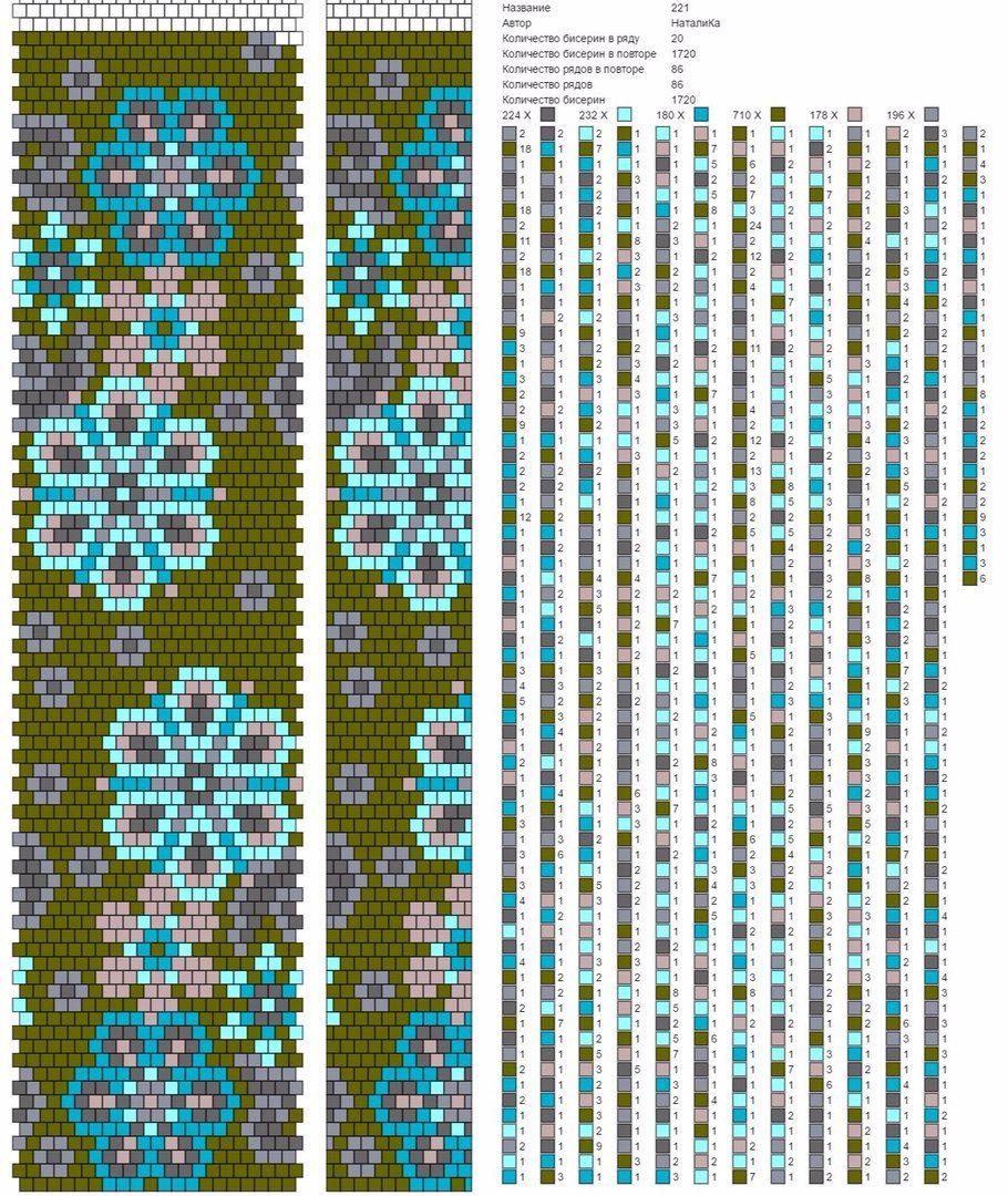 Pin von Dalia Aleksandraviciene auf scheme | Pinterest | Perlenkette ...