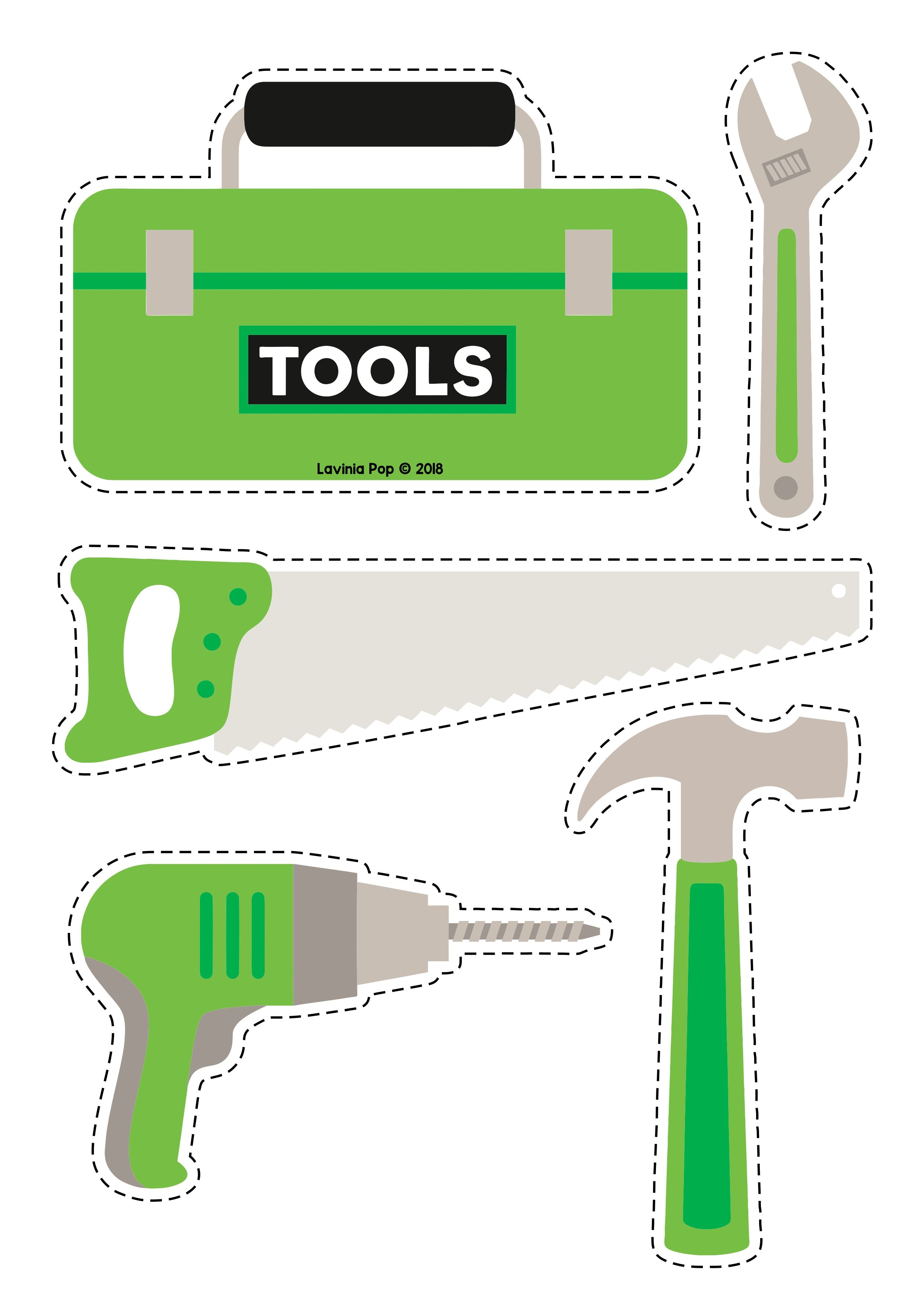 Tools-Template-For-Kids | Crafts and Worksheets for Preschool ...