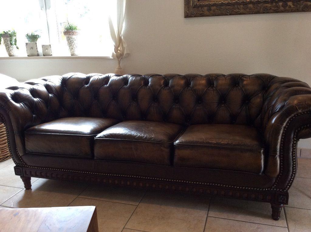 Chesterfield Sofa Leder | Ebay | Holz, Vintage Und Ziegelsteine