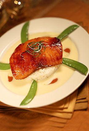 Miso- glazed salmon | Recipe in 2020 | Miso glazed salmon recipe, Miso salmon cheesecake factory, Food recipes