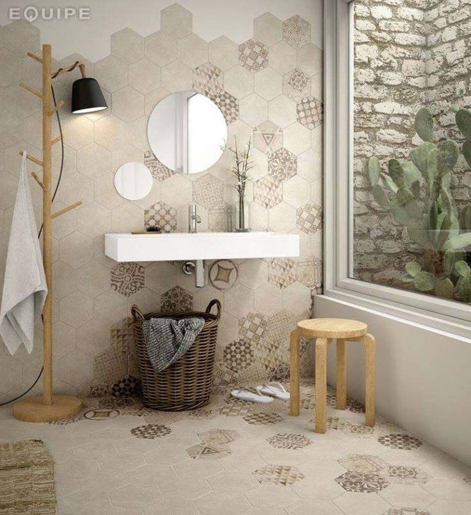 Carrelage design à l\'inspiration géométrique pour la salle de bains ...