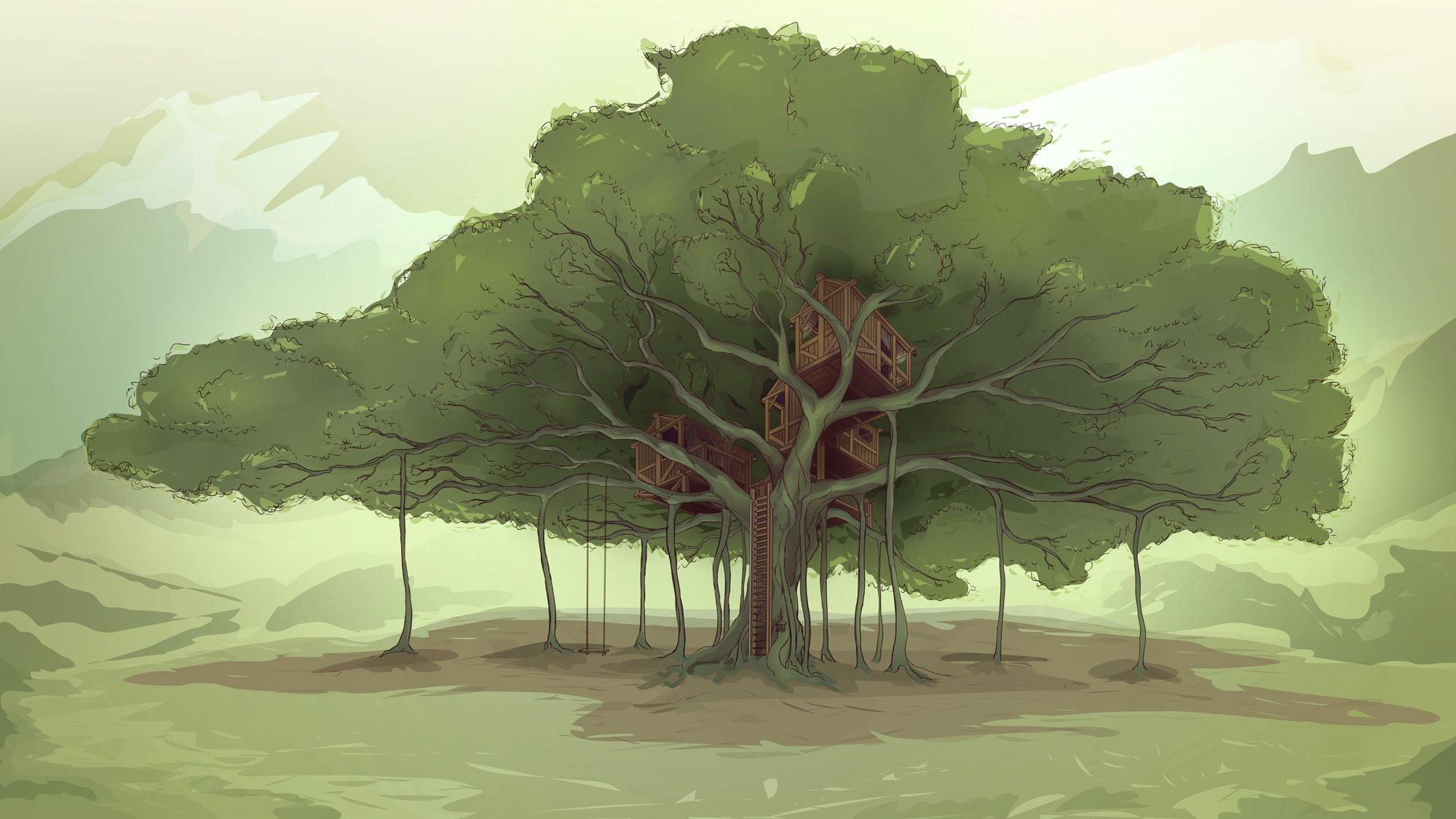 banyan tree illustration
