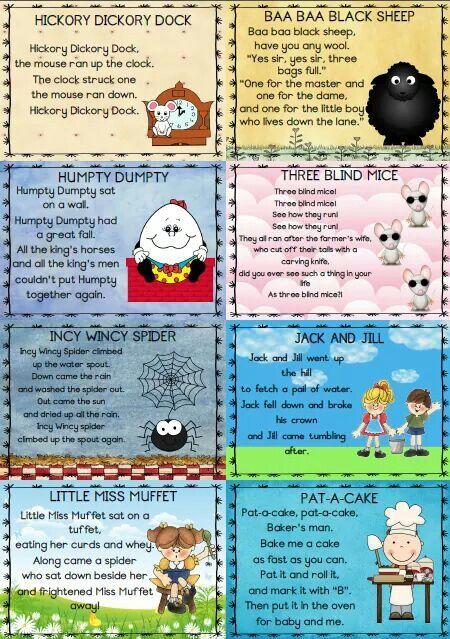 Nursery Rimes Nursery Rhymes Activities Nursery Songs Nursery