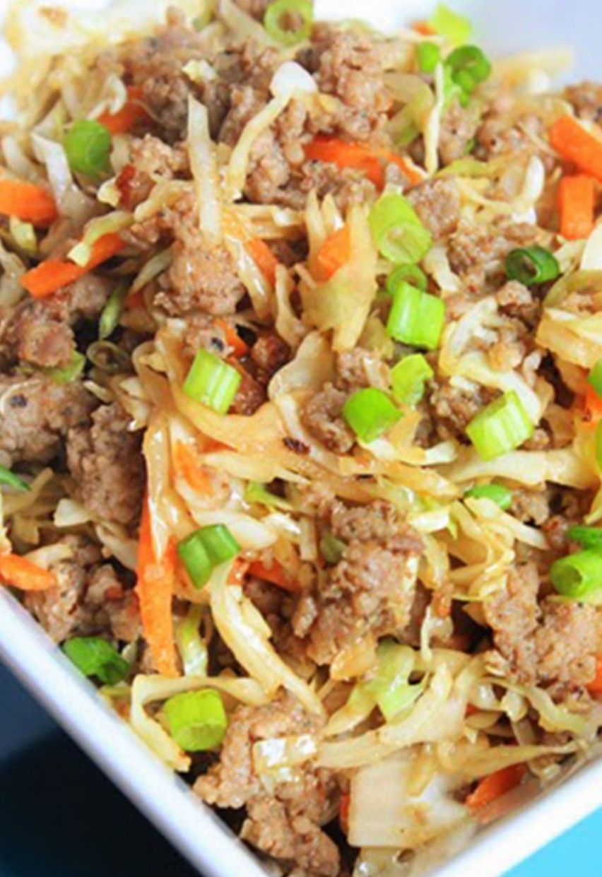 27 Five-Ingredient Dinner Recipes for Stress-Free Meals #eggrollinabowl 13. Eggroll in a Bowl #eggrollinabowl