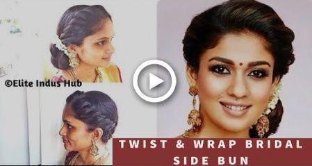 Diy Twist Amp Wrap Bridal Side Bun Weddingsidebuns Bridal