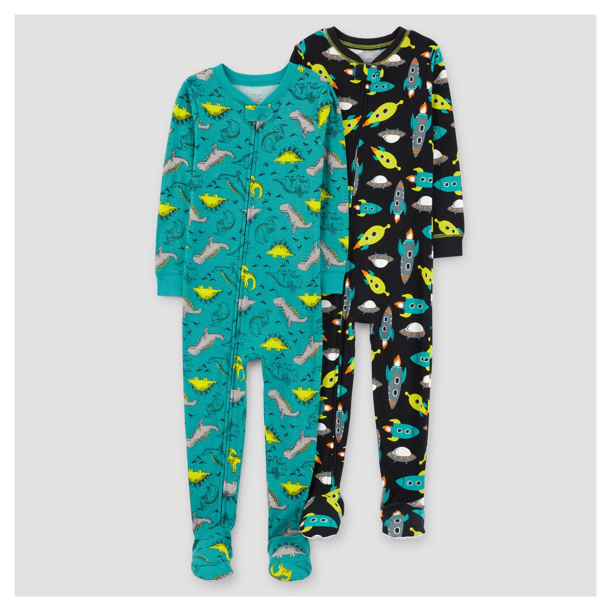 a44440f04 Toddler Boys  2pk Spaceships Dinosaurs Cotton Pajama - Just One You ...