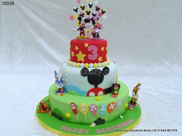 Disney Clubhouse Cake httpwwwcakescrazycoukdetailsmickey