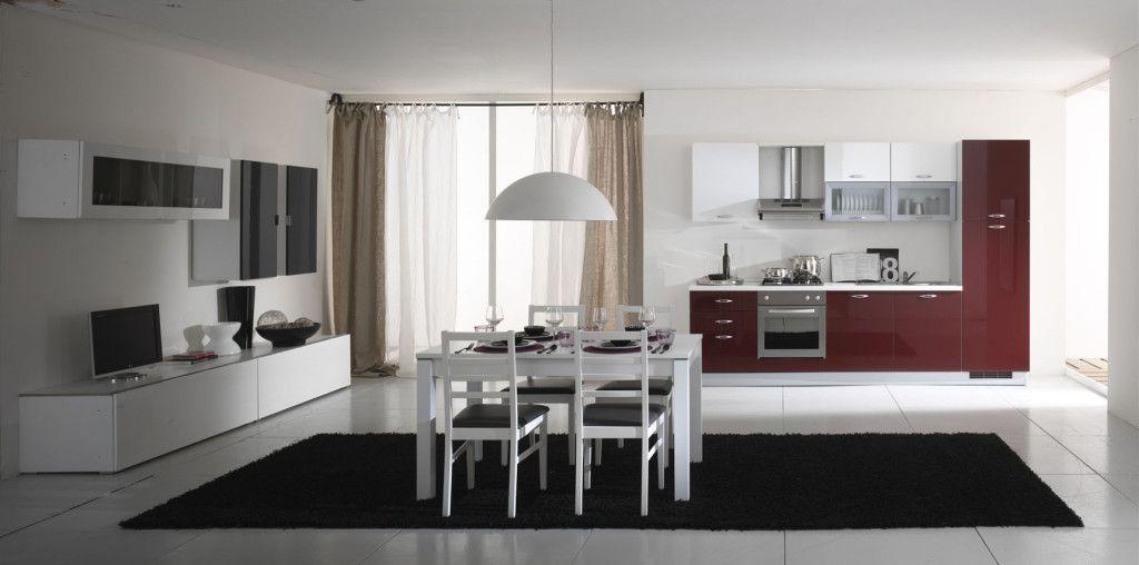 Arredamento Sala Cucina.Cucina E Soggiorno Insieme Idee Ed Esempi Di Arredamento
