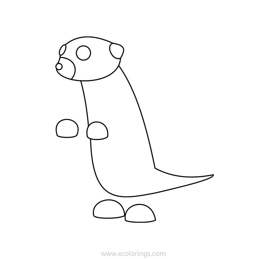 Roblox Adopt Me Coloring Pages Meerkat Pets Drawing Pokemon Coloring Pages Coloring Pages