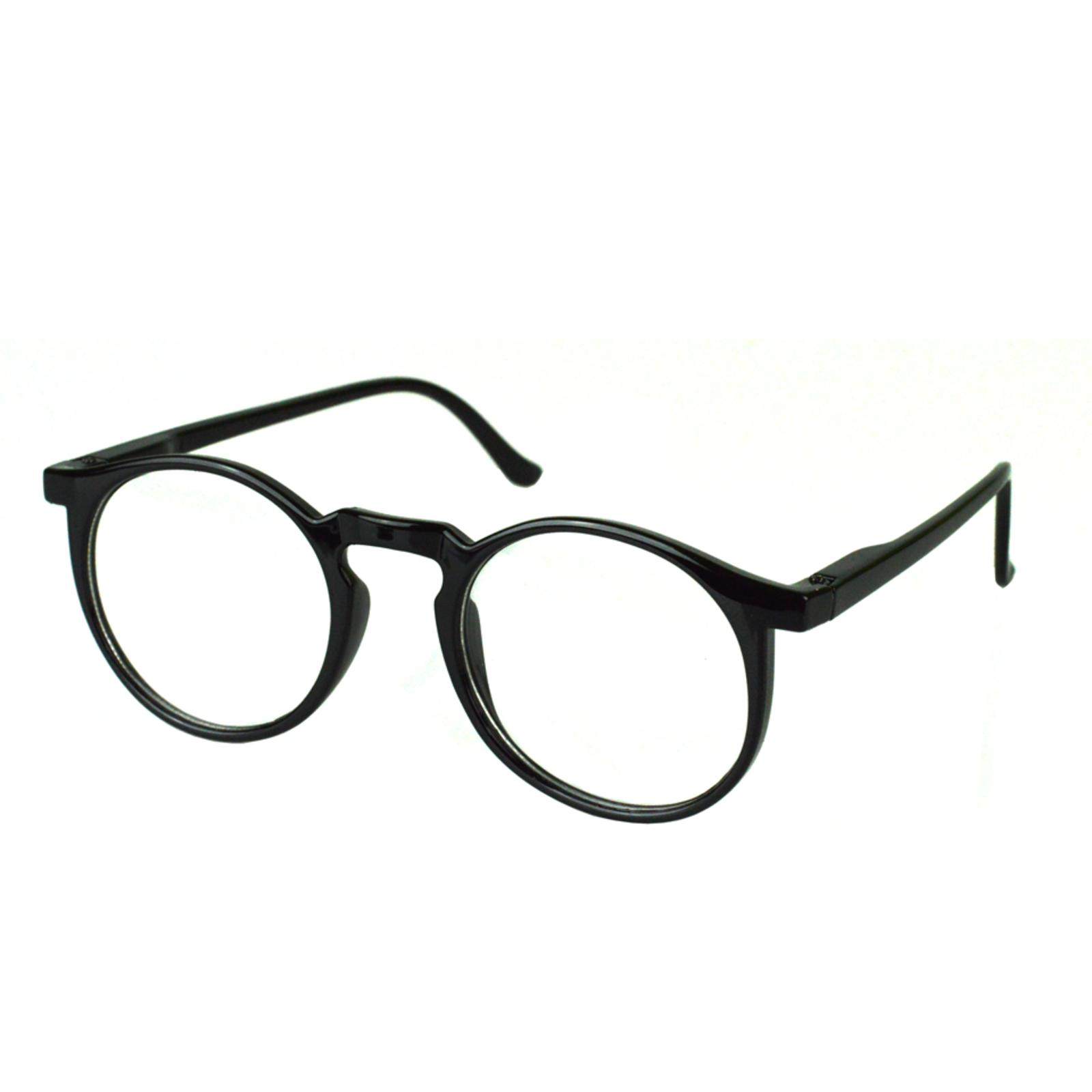 Armacao Oculos De Grau Redondo Isabela Dias 6601 Preto Armacoes