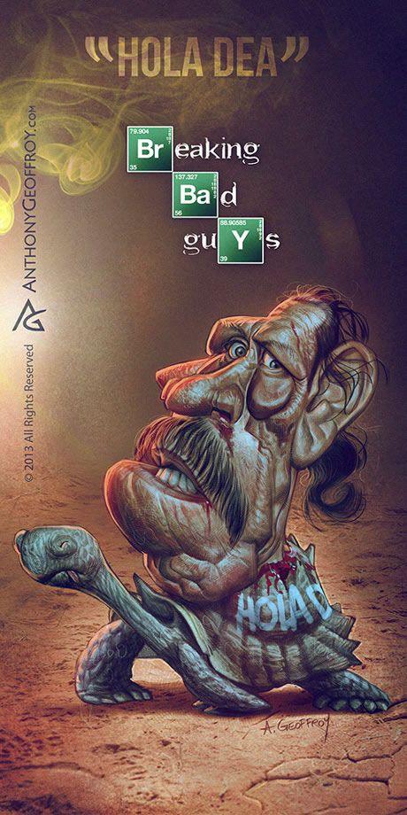Caricatures des personnages de Breaking Bad par Anthony Geoffroy