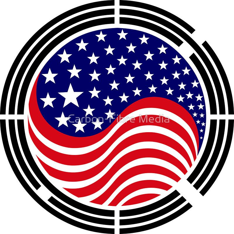 Korean American Multinational Patriot Flag Series By Carbon Fibre Media American Art Korean American Flag