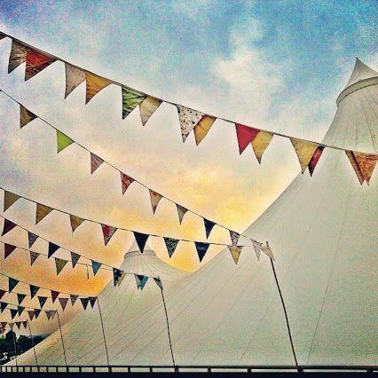 Prayer flags at the Greenbelt Festival in Cheltenham, UK Image by www.yogachapel.com