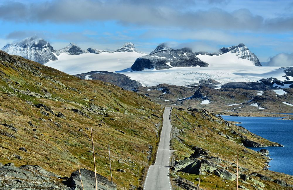 Mountain Road Sognefjellet Norway Beautiful Norway