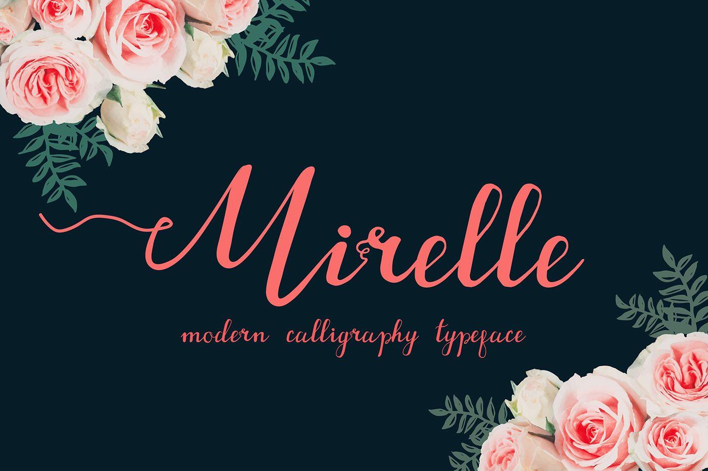 Mirelle script FREE FONT on Behance Free wedding fonts