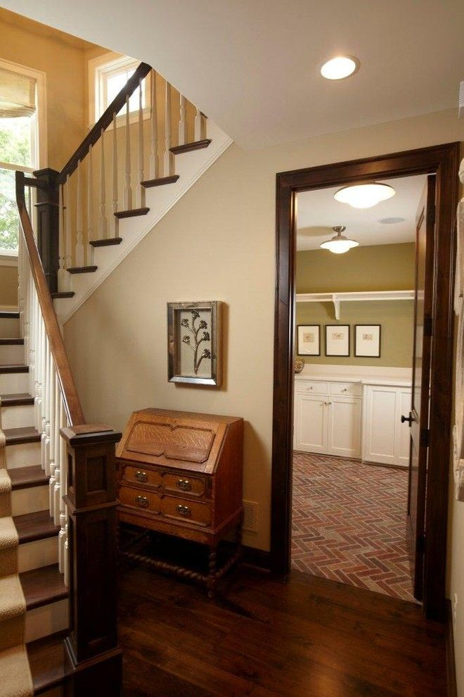 Would This Work In My House Tiger Oak Is Difficult To Work With Expresso Stained Trim Change The Pale Oak Dark Wood Trim Stained Wood Trim Interior Trim