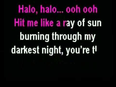 Beyonce Halo Karaoke Instrumental With Lyrics Vocal Lessons Karaoke Lyrics