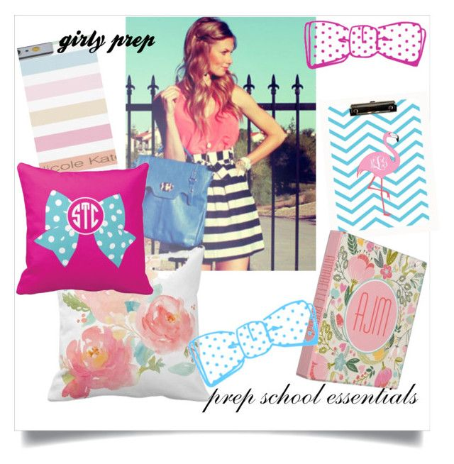 """Feminine Preppy School Girl Essentials"" by scarlettawangjmhc ❤ liked on Polyvore featuring beauty"
