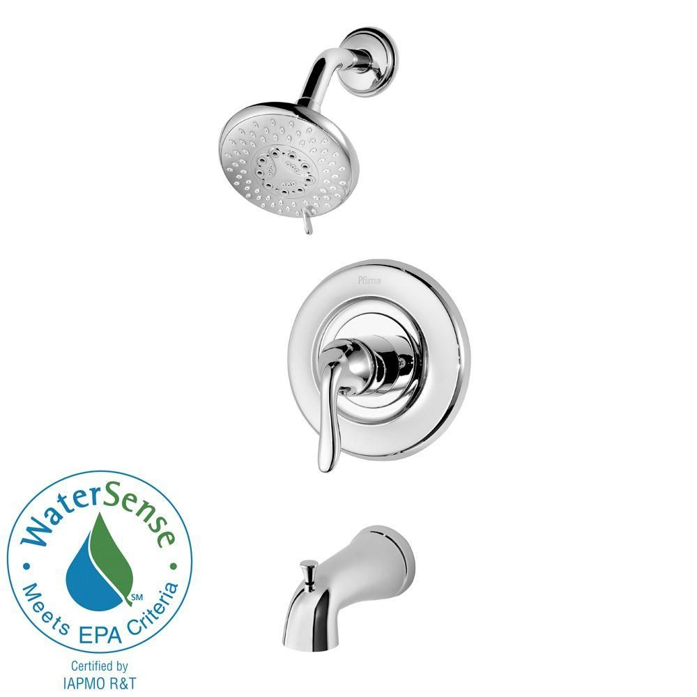 Pfister Universal Single Handle Tub And Shower Faucet Trim Kit In