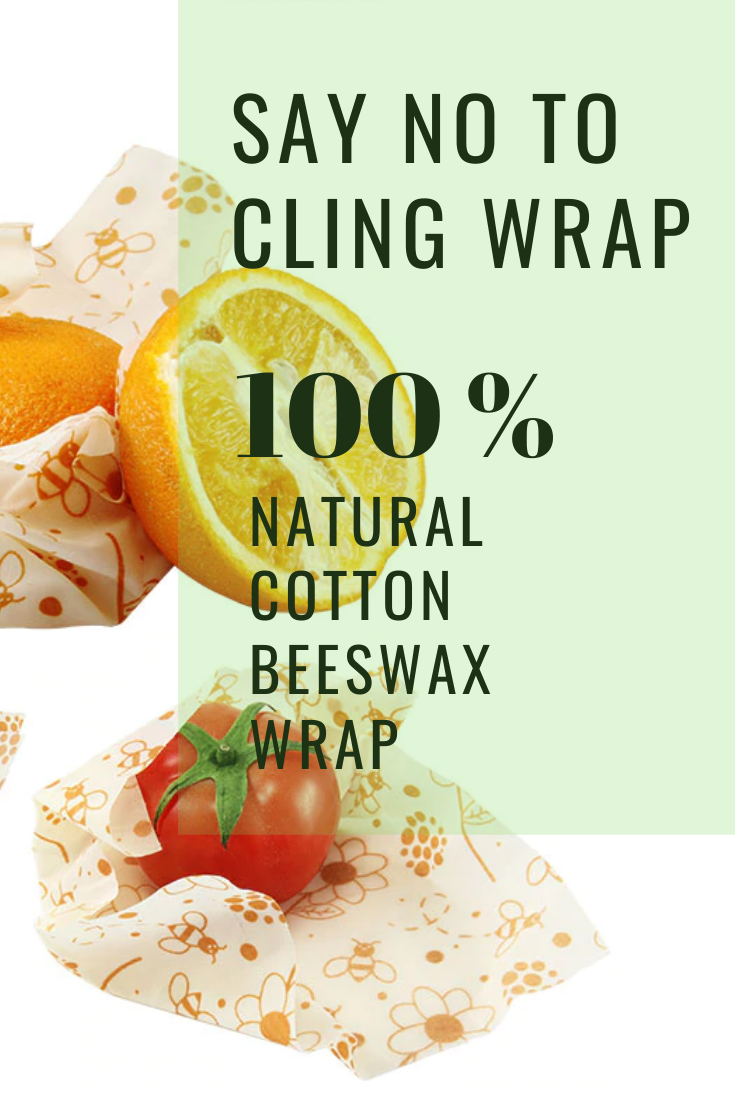 Ditch the cling wrap and switch to beeswax wraps! Cover a bowl, pack a snack, wrap veggies or cheese.  Made with cotton, beeswax, jojoba oil, and resin. Beeswax wrap is washable, reusable and compostable. #jojobaoil