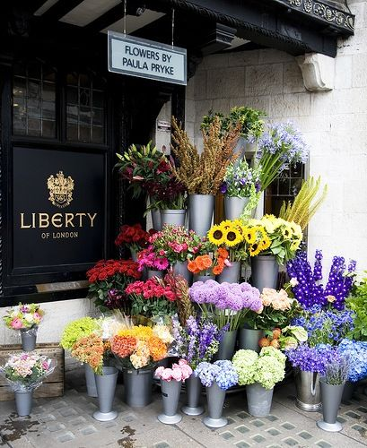 LIBERTY. Wild at Heart flowers at our Great Marlborough Street entrance.