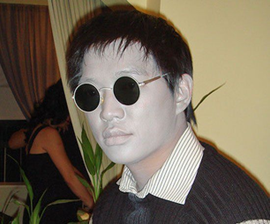 Nowhere (Wo)Man White face paint, White clothing and Dark shades - 4 man halloween costume ideas