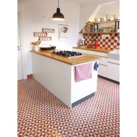 Einer unserer Klassiker Geometrisches Muster 10432 #zementplatte - küchen wandfliesen ikea
