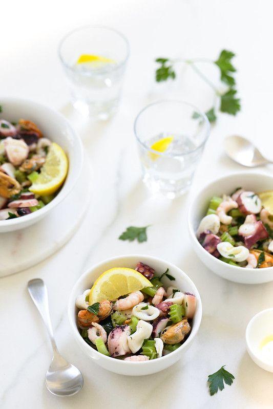 Salade aux fruits de mer comme en Italie