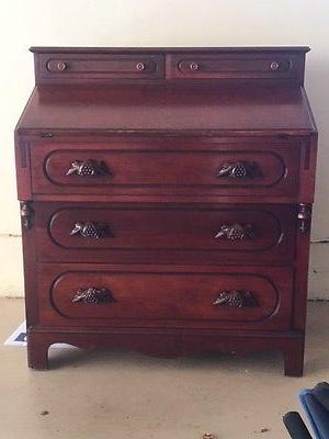 Davis Cabinet Co Lillian Russell Cherry Slant Top Dresser Secretary Antique Furniture Cherry Desk Furniture