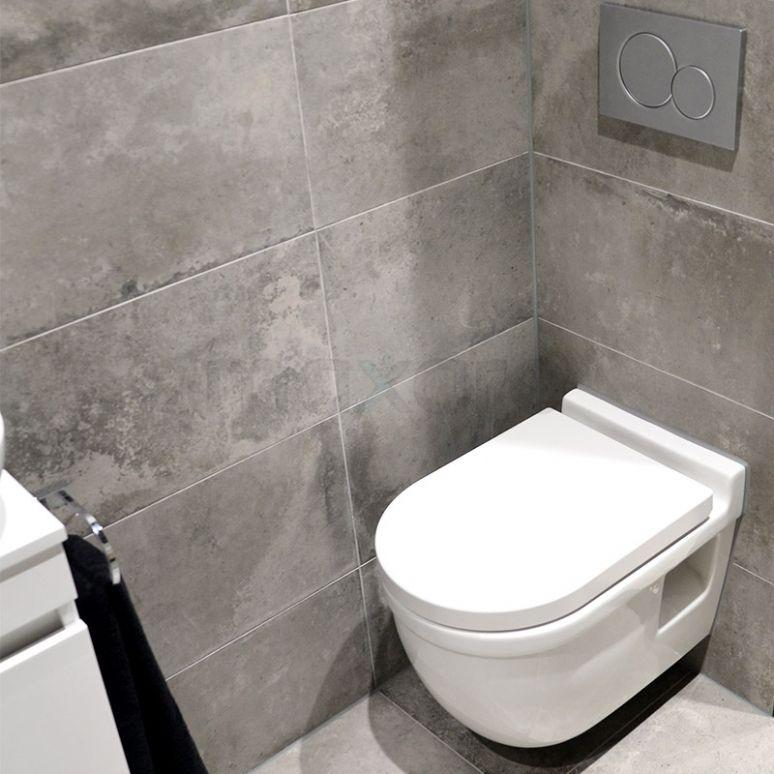 Betonlook toilet - Toilet ideeën | Pinterest - Tegels, Badkamer en ...